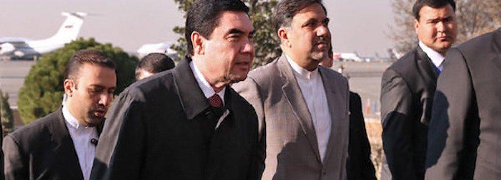 Transport Minister in Ashgabat