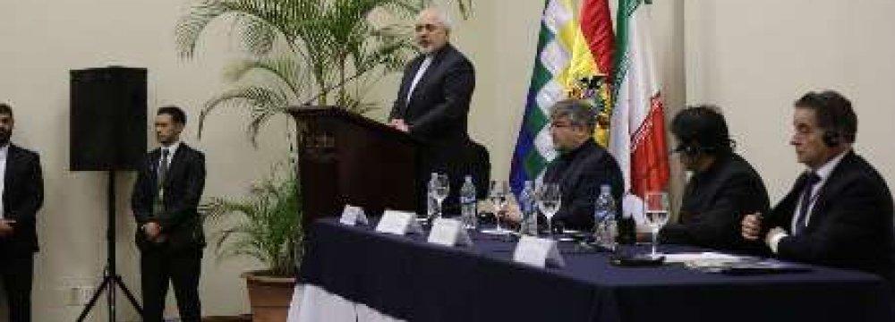 Morales, Zarif Attend Economic Forum