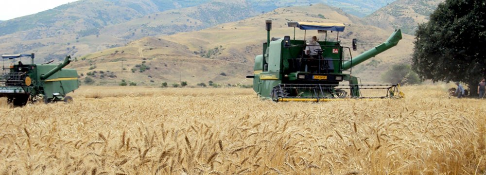Agricultural production increased 4% during the first quarter of the current fiscal year. Wheat production has risen to more than 13 million tons from 6 million four years ago.