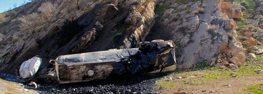 Tanker Road Mishap Again Pollutes Lorestan River
