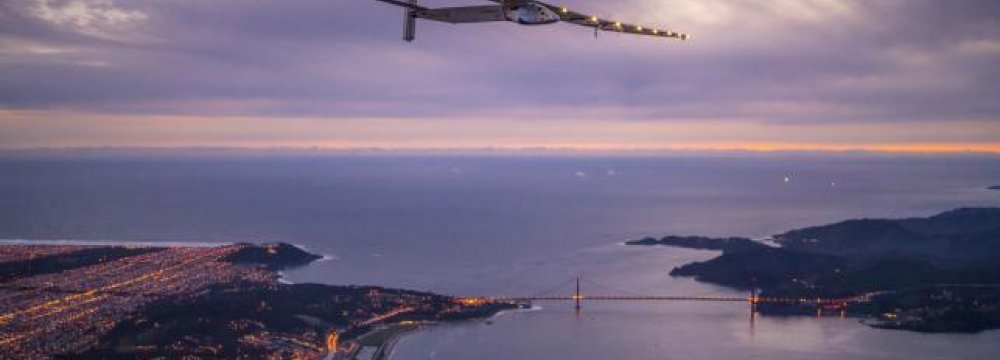 Solar-Powered Plane in US Completes 10th Leg of Journey