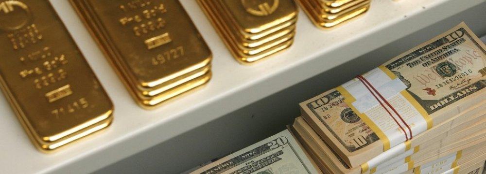 Gold Falls, USD Firms
