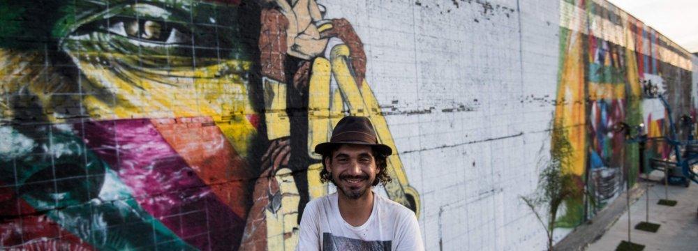 Brazil Artist Paints Massive Olympic Mural