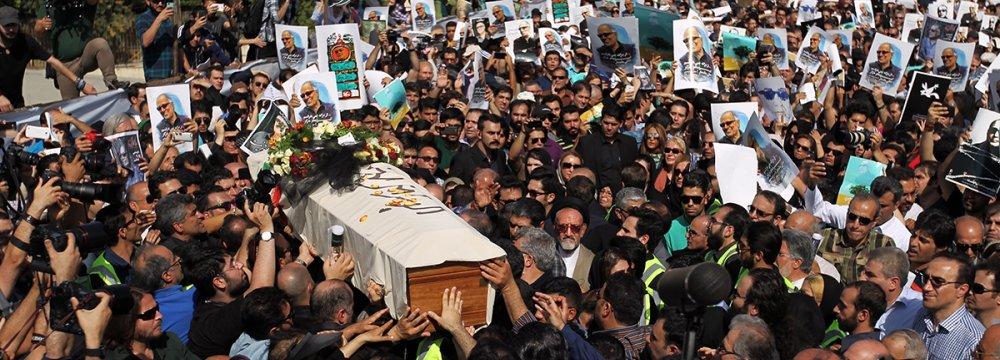 Fans Pay Final Respects  to Abbas Kiarostami