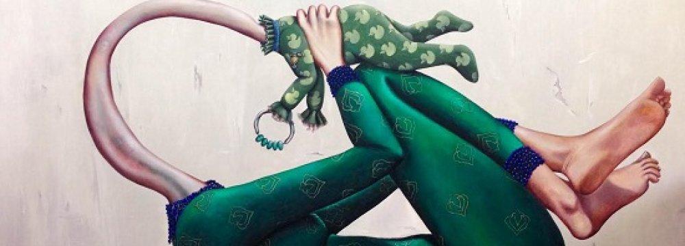 Iranian Artwork in Swiss Gallery