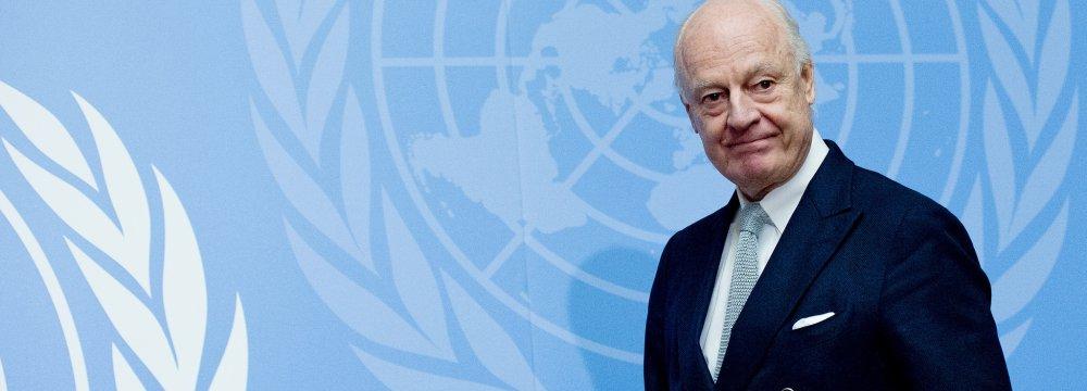 UN Envoy Due in Tehran Before Syria Talks