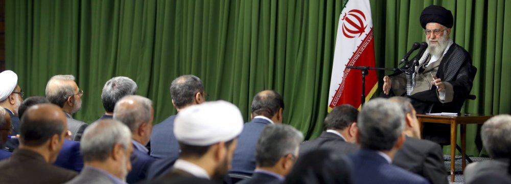 Leader Outlines Majlis Priorities