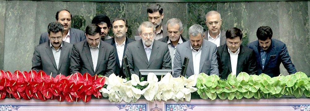 Larijani Elected Interim Parliament Speaker