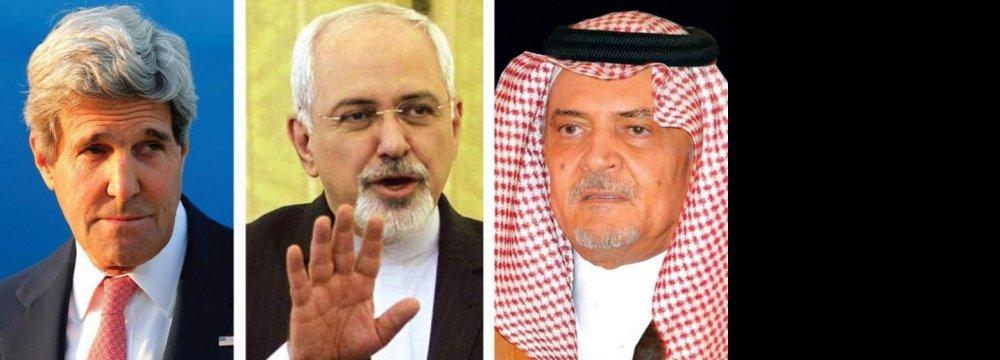 Zarif Meets US,  Saudi Counterparts