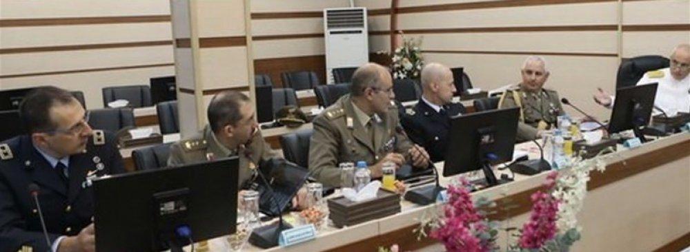 Italian Military Team Visits