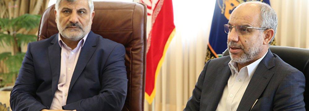 Ebadollah Abdollahi (L) and Mohammad Kazem Choghazari.