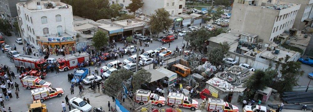 4 Killed in Tehran Metro Collapse
