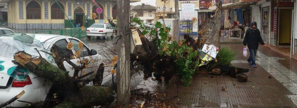 Severe Storm  in Mazandaran