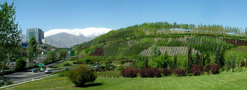 Tehran's per capita green space stands at 16 square meters.