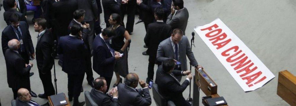 Brazil MPs Ban Ex-Speaker From Politics