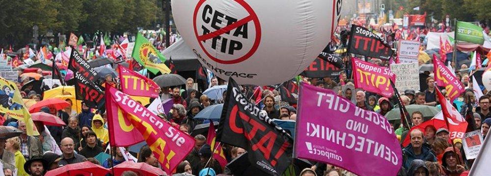 Germans Stage Rallies Against TTIP, CETA