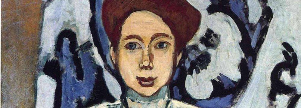 Henri Matisse painting 'Portrait of Greta Moll'