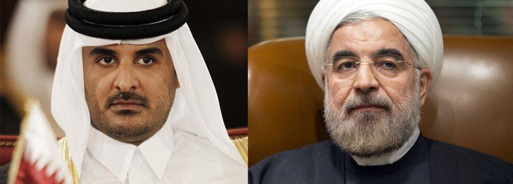 President, Qatari Emir Discuss  Regional Issues