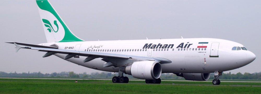 Mahan Air's New Planes Fly