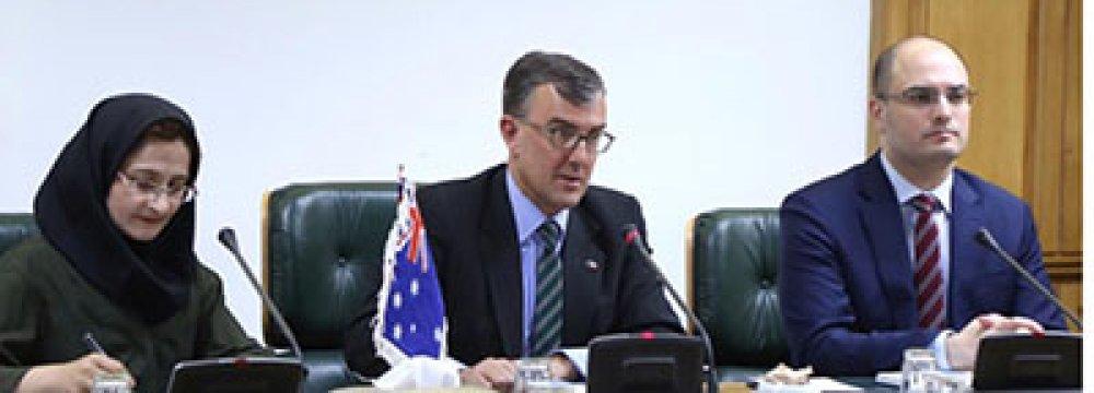 CBI's Vice-Governor, Australia Envoy Confer