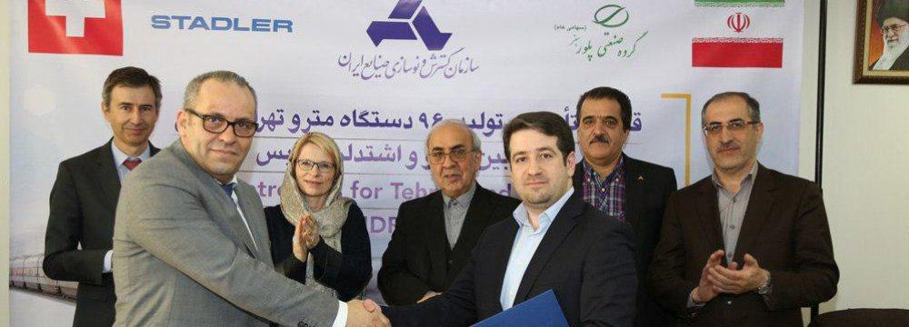 Iran, Swiss Group Sign €1.1b Subway Car JV