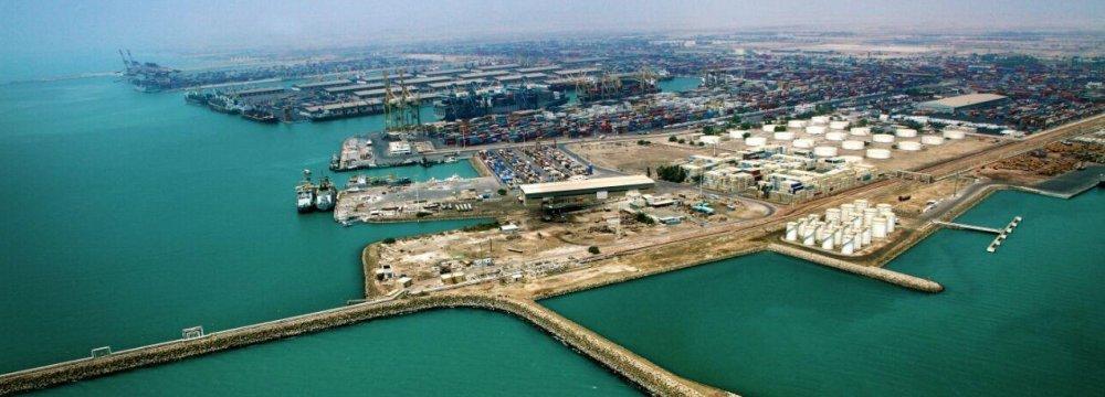 Shahid Rajaei Port in Hormozgan Province, Iran's largest container port