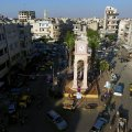 A general view of the rebel-held Idlib city on June 8, 2017.