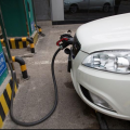 A State Grid Corporation of China charging point for electric vehicles in Beijing (File Photo)