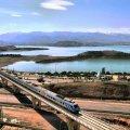 Iran President Flags Off Train Along New Rail Section of INSTC - Photo: Hossein Javadi