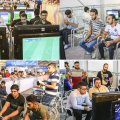 Gamers and audience at the third Iran Game League at Milad Tower